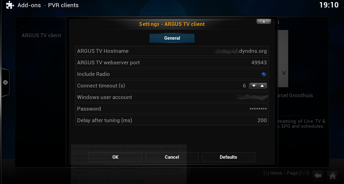 Kodi with PVR Support - ARGUS TV Wiki