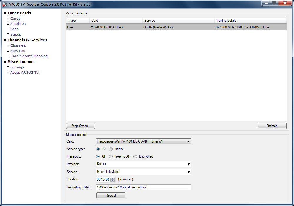 adding tuners argus tv wiki rh argus tv com Installation Manual Sump Pump Installation Diagram